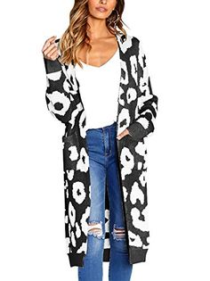 online shopping for Spbamboo Fashion Women Knitted Print Long Sleeve Cardigan Tops Sweater Coat from top store. See new offer for Spbamboo Fashion Women Knitted Print Long Sleeve Cardigan Tops Sweater Coat Long Sweaters For Women, Casual Sweaters, Cardigans For Women, Coats For Women, Women's Cardigans, Leopard Pullover, Leopard Print Cardigan, Pink Leopard Print, Leopard Pattern