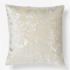 Metallic Texture Pillow Cover - Silver #westelm