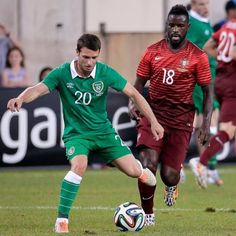 Wes () plays 63 mins for Rep.Ireland