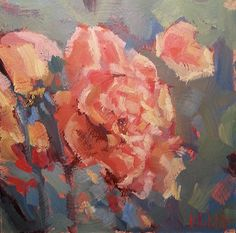 Heidi Malott Original Paintings: September Rose Garden Original Daily Oil Painting ...