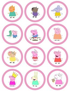 Peppa pig princess cake - clip art blown up to use as templates Fiestas Peppa Pig, Cumple Peppa Pig, Peppa Pig Y George, George Pig, Peppa Pig Printables, Free Printables, Peppa Pig Stickers, Mini Kids, Peppa Big