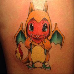 Charmander Pokemon Tattoo Design