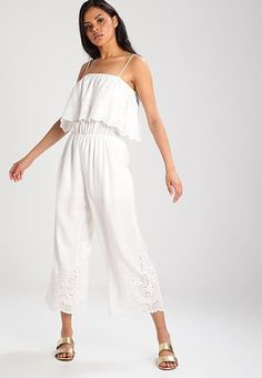 Overall / Jumpsuit /Buksedragter - white