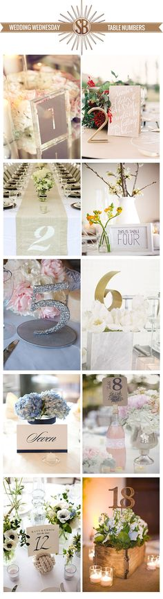 The StyleSphere by Stephanie Bradshaw. #wedding #design #planning #table #numbers