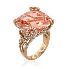 Pfirsich Morganit und Diamant Ring - Pretty Tattoos - DIY Garden Easy - Best Home Decor Ideas - DIY Hair Style - Fine Jewelry Pink Jewelry, Vintage Jewelry, Unique Jewelry, Teen Jewelry, Star Jewelry, Silver Jewelry, Pink Diamond Ring, Gold Ring, 3d Texture