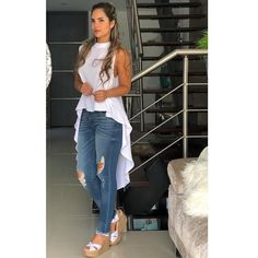 Trendy and cute casual outfit. Casual Dresses, Casual Outfits, Fashion Dresses, African Fashion, Indian Fashion, Girl Fashion, Womens Fashion, Fashion Tips, Diy Clothes