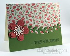 Stampin' Up! Botanical Blooms Handstamped Card for my Bestie