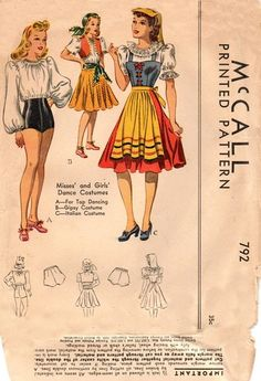 McCall 792 Awesome Gypsy  Italian  Tap by OutoftheAshesSewing