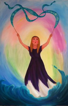 Banner of Dance prophetic art worship painting.
