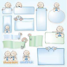Papier 30x30 - Malutkie Szczęścia 046 - Magiczna Kartka Na-Strychu Clipart Baby, Baby Shower Clipart, Little Boy Pictures, Baby Pictures, Baby Photos, Baby Journal, Baby Clip Art, Baby Shower Invitaciones, Baby Shawer