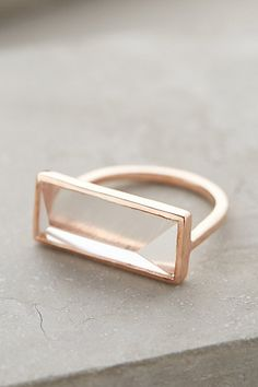 Quartz Rectangle Ring anthropologie.com #anthrofave