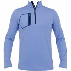 RLX Ralph Lauren Double Brushed Jersey Blue Rain #golf #fashion #trendygolf