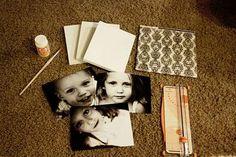 Zelf canvas met foto's maken of op Hout, glas, onderzettertje etc