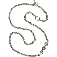 HOORSENBUHS Silver & Diamond Toggle Necklace at Barneys.com
