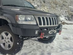 Recessed winch bumper for Jeep Grand Cherokee WJ 1999 - 2004 by HK Offroad 2003 Jeep Grand Cherokee, Lifted Jeep Cherokee, Accesorios Jeep Grand Cherokee, Jeep Wj, Winch Bumpers, Jeep Parts, Wrangler Jl, Jeep Pickup, Offroad