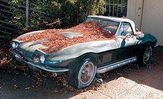 Corvette Delivery Dispatch with National Corvette Seller Mike Furman for Dec. - Corvette: Sales, News & Lifestyle Old Corvette, Chevrolet Corvette, Junkyard Cars, Abandoned Cars, Abandoned Property, Abandoned Vehicles, Car Barn, Rust In Peace, Roadster