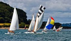 Falmouth Classics Regatta. Traditional working boats and classic yachts. Cornwall