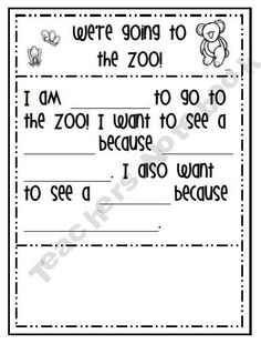 Zoo Freebie--using this week before our field trip to the zoo. :)