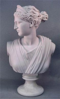 Bust Of Diana The Huntress Roman and Greek Goddess Marble Portrait