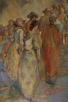 Pioneers by Minerva Teichert- Detail right side