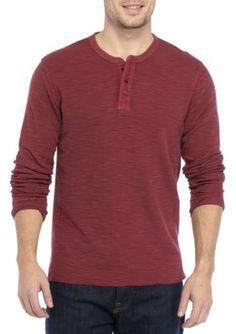 1a94f92e Lucky Brand Men's Thermal Henley Shirt - Port Royal - 2Xl Thermal Henley,  Port Royal