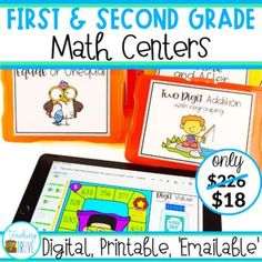 This massive bundle of first and second math centers provides the perfect way to practice math concepts, no matter whether you are engaging in distance learning or in the classroom.