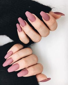 A manicure is a cosmetic elegance therapy for the finger nails and hands. A manicure could deal with just the hands, just the nails, or Hair And Nails, My Nails, S And S Nails, Classy Nail Art, Classy Gel Nails, Classy Acrylic Nails, Mauve Nails, Dusty Pink Nails, Dark Pink Nails