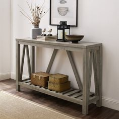 Offerman Console Table - A console table is a versatile accent that works in many places in a home: from an entryway to clut - Rustic Home Decor, Decor, Furniture, Entry Table, Home Accessories, Table, Diy Home Decor, Entryway Decor, Home Decor