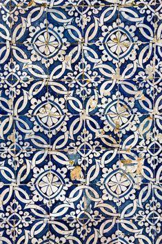 Azulejo Photograph - Portuguese Glazed Tiles by Gaspar Avila Portuguese Glazed TilesMural of vintage portuguese blue tiles azulejo. The photo was shot in Azores islands, Portugal. Tile Murals, Tile Art, Wall Tiles, Mosaic Tiles, Moroccan Tiles Kitchen, Morrocan Tiles Bathroom, Morrocan Floor Tiles, Moroccan Tile Backsplash, Blue Moroccan Tile