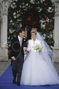Princess Margaret's son David Armstrong-Jones, Viscount Linley, married Serena Stanhope in 1993