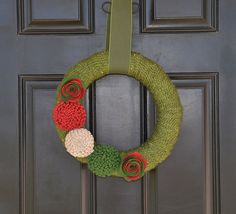 Christmas Wreath Handmade Holiday Wreath  by KutItOutCrafts, $50.00