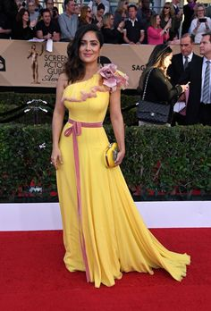 Salma Hayek in Gucci and Irene Neuwirth jewelry