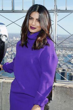 Purple lipstick-Priyanka Chopra