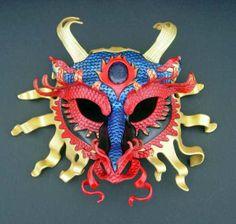 Asian dragon mask