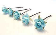 hair accessories hair pins bobby pins flower hair by kC2Designs, $11.85
