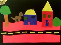 2nd Grade - Bright City Street, collage