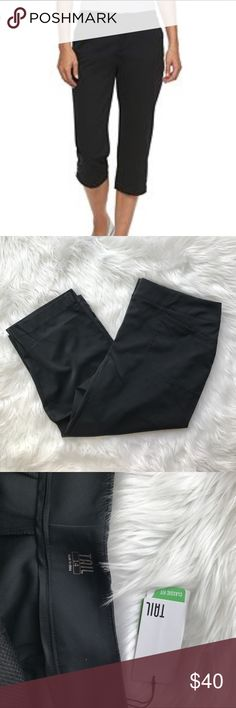 "• Tail • Classic Golf Capri Black NWT 14 Active - Tail - Black Classic Tech Capri - Size 14 - New with Tags - Inseam 22"" Tail Pants Capris"