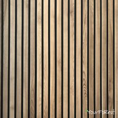 Wooden batten plank as a wall decor