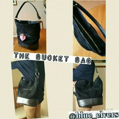 Leather and suede bucket bag Zip opening and internal pocket. Large and roomy. Order yours!