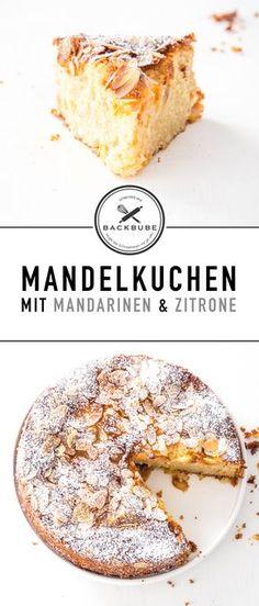 Mandelkuchen mit Mandarinen und Zitrone / Almond cake with clementines and lemon / www.backbube.com - Foodblog Party Desserts, No Bake Desserts, Baking Desserts, Mandarine Recipes, German Cake, Cookie Cake Birthday, Cake & Co, Crazy Cakes, Bread Cake