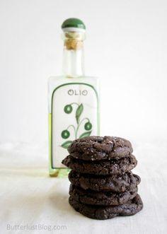 Olive Oil & Sea Salt Brownie Cookies
