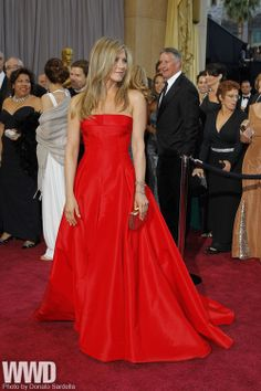 Jennifer Aniston in Valentino and Fred Leighton.