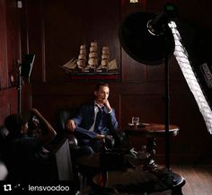 Behind the scenes by @lensvoodoo :  A BTS moment from my fashion editorial shoot with SD model, Chris Custer @chris_custer  Assist and BTS shot by @troygarrowphoto  Lit with two Interfit S1 strobes and 3 LED panels  Location:  Excalibur Cigar Lounge, San Diego.  Shot as part of a portrait series highlighting local artists and local businesses for locations.  Final image to follow.  #portrait #photoshoot #bts #mag #behindthescenes #lighting #art #fashion #photo