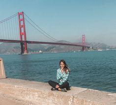 Atravessando a ponte Golden Gate de bicicleta até Sausalito