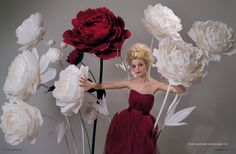 Giant Paper Peony Flower Huge Oversized Big by MioPaperArt