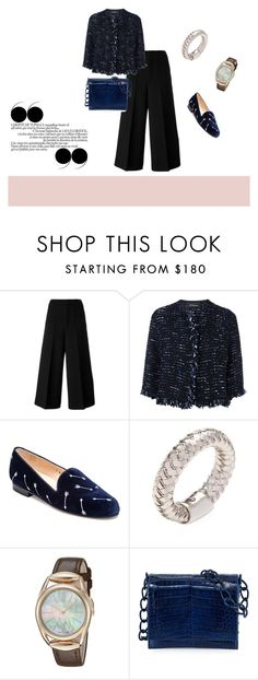"""""""blue is the warmest colour"""" by leafmarie ❤ liked on Polyvore featuring Marni, Les Copains, Jon Josef, Roberto Coin, Gucci and Nancy Gonzalez"""