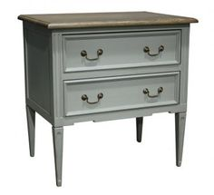 French Provencal Style 2 Draw Pedestal. A Block and Chisel Product.