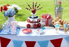 Red White and Blue Fourth of July Party Plan #Fourth_of_July #red_white_blue #party #ideas #tips #decor