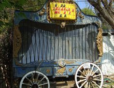 Old Carnival Wagon Cage (I'd keep the Dancing Bear in it)