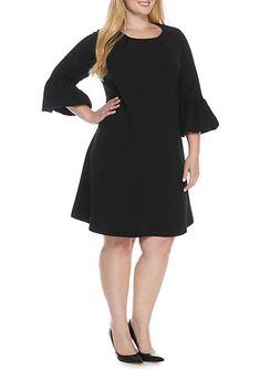 121412de771 Lennie For Nina Leonard Plus Size Puff Sleeve Shift Dress